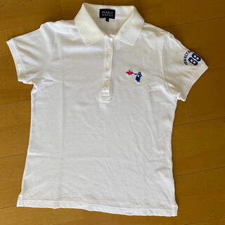 PEARLY GATES - パーリーゲイツ ポロシャツ0白レディースゴルフ