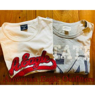 American Eagle - アメリカン・イーグル・アウトフィッターズtシャツL2枚セット①