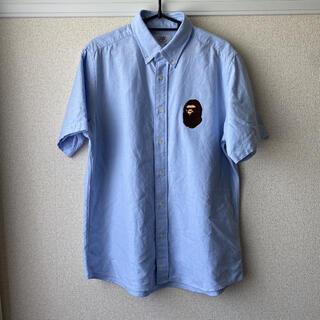 アベイシングエイプ(A BATHING APE)のA BATHING APE オックスフォードシャツ 水色 L(シャツ)