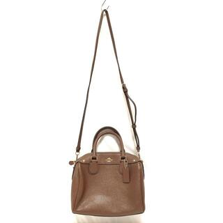 COACH - コーチ ハンドバッグ美品  F57521 ブラウン