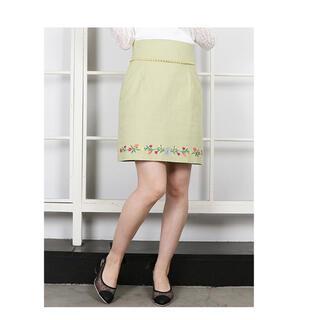 ダズリン(dazzlin)のフラワーヘム刺繍ミニスカート(ミニスカート)