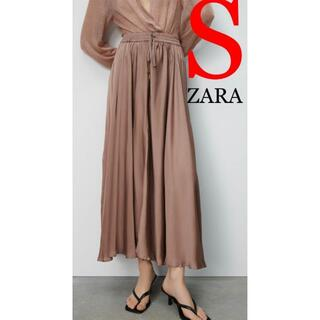 ZARA - 1 ZARA ザラ 新品 リンクル サテンエフェクト スカート S