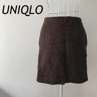 ユニクロ(UNIQLO)のUNIQLO ユニクロ レディース ミニスカート チェック 新品未使用 美品(ミニスカート)