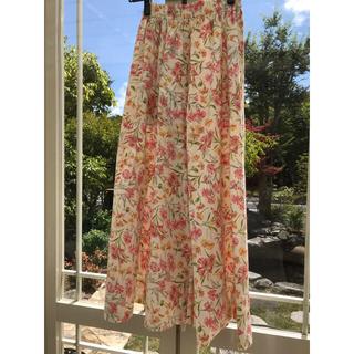 ローラアシュレイ(LAURA ASHLEY)の花柄ロングスカート 美品(ロングスカート)