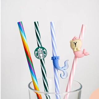 スターバックスコーヒー(Starbucks Coffee)のちよ様専用ページスターバックス中国夏限定 繰り返し使えるストロー4(タンブラー)