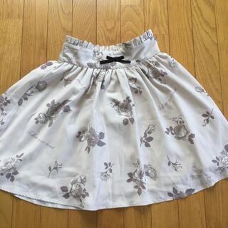 アンクルージュ(Ank Rouge)の花柄スカート(ミニスカート)