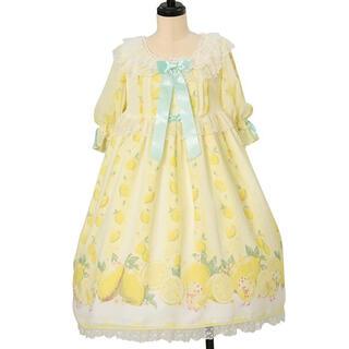 アンジェリックプリティー(Angelic Pretty)の本日発送 初版fruity lemon ワンピバレッタセット(ひざ丈ワンピース)