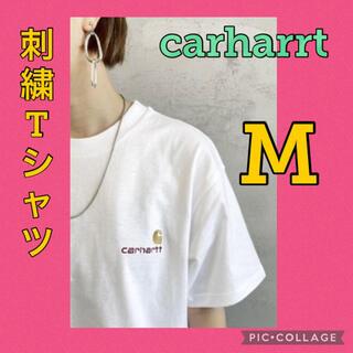 carhartt - カーハート Tシャツ ホワイト 白 CARHARTT 刺繍ロゴ ロゴ M3