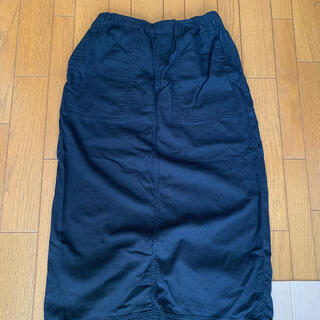 スタディオクリップ(STUDIO CLIP)のスタディオクリップ  studioclip スカート 綿麻 黒 ブラック(ロングスカート)