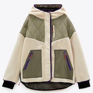 ZARA - フェイクシアリング パフジャケット