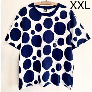 マリメッコ(marimekko)の日本未発売★marimekko uniqlo ドット Tシャツ ネイビー XXL(Tシャツ(半袖/袖なし))
