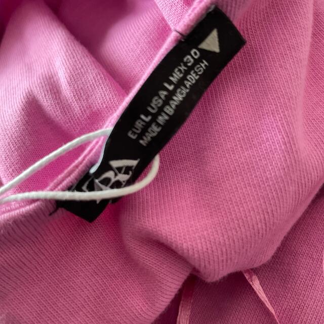 ZARA(ザラ)の【新品】値下げ!ZARA カットアウト入りワンピース ピンク L レディースのワンピース(ロングワンピース/マキシワンピース)の商品写真