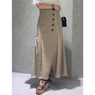マーキュリーデュオ(MERCURYDUO)の新品 サイドボタンスリットデニムスカート(ロングスカート)