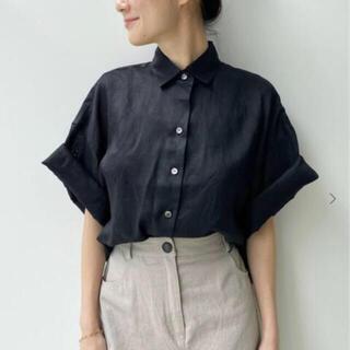 L'Appartement DEUXIEME CLASSE - 新品タグ付 Ramie Half Sleeve Shirt  ブラック