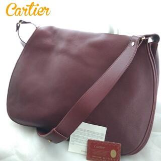 Cartier - Cartier カルティエ マストラインレザー×スエード ショルダーバッグ