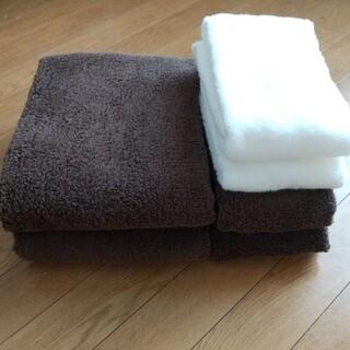 MUJI (無印良品) - 無印良品 中厚手タオル6枚セット バスタオル×2 フェイスタオル×4