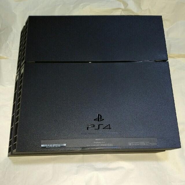 PlayStation4(プレイステーション4)の動作確認済み PS4 物理ボタン 黒 ジェットブラック 1200 エンタメ/ホビーのゲームソフト/ゲーム機本体(家庭用ゲーム機本体)の商品写真