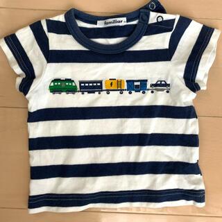 familiar - ファミリア ボーダー柄 半袖Tシャツ