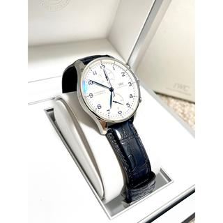 インターナショナルウォッチカンパニー(IWC)の[美品]IWC ポルトギーゼ クロノグラフ IW371446 ネイビー(腕時計(アナログ))