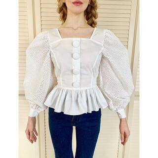 スナイデル(snidel)のepine pepram blouse white(シャツ/ブラウス(長袖/七分))