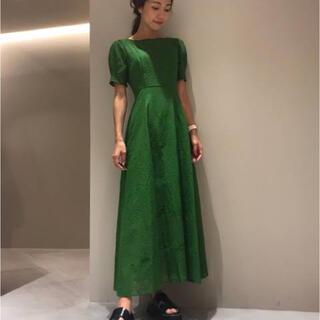 FRAY I.D - 25日まで fray i.d アイレット刺繍ドレス ワンピース グリーン