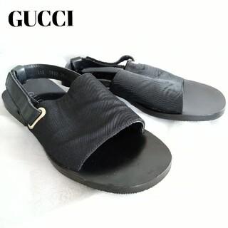 グッチ(Gucci)のGUCCI グッチ スリッポン サンダル 25-26cm ブラック メンズ(サンダル)