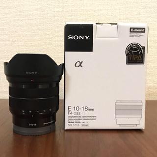 SONY - sony e 10-18mm f4 oss sel1018 レンズフィルター付き