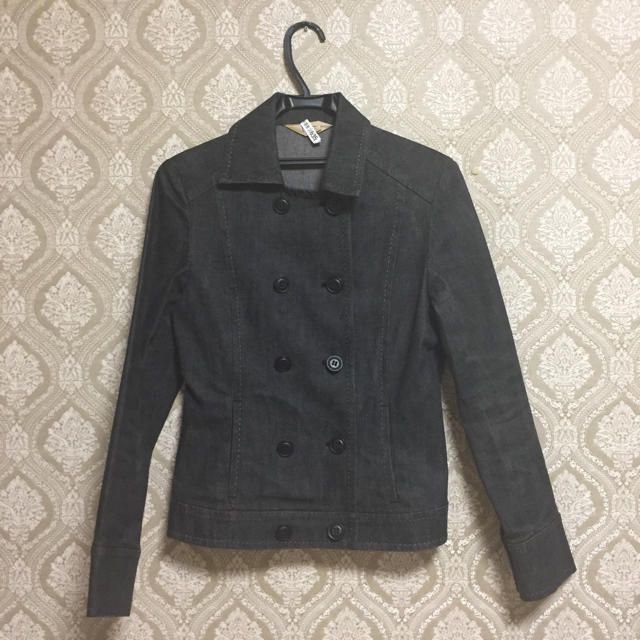 ブラック デニム ジャケット M キャサリンロス レディースのジャケット/アウター(Gジャン/デニムジャケット)の商品写真