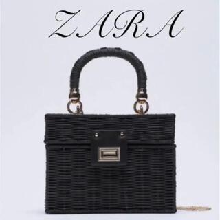 ZARA - ZARA ミノディエール カゴバッグ ブラック