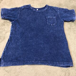 GU - GU 150 デニム生地風Tシャツ 美品