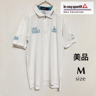 le coq sportif - 美品 ルコック ゴルフ 半袖 ポロシャツ M ゴルフウエア 白 メンズ