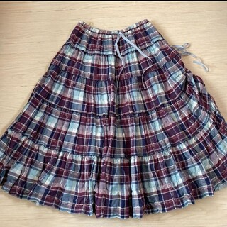 PINK HOUSE - ピンクハウス ピコフリルミディ丈スカート