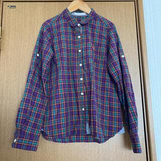 アズノゥアズピンキー(AS KNOW AS PINKY)のチェックシャツ aiko 紫 古着(シャツ/ブラウス(長袖/七分))