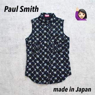 ポールスミス(Paul Smith)の◎Paul Smith Jeans◎ポールスミスジーンズ◎日本製◎花柄◎刺繍◎(シャツ/ブラウス(半袖/袖なし))