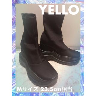 ZARA - YELLO スニーカーヒールブーツ Mサイズ 23.5cm