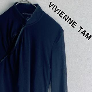 ヴィヴィアンタム(VIVIENNE TAM)の☆良品☆ヴィヴィアンタム チャイナシャツ シースルー  カットソー カーディガン(シャツ/ブラウス(長袖/七分))