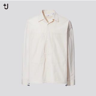 ユニクロ(UNIQLO)のUNIQLO+J スーピマコットンオーバーサイズシャツブルゾン(ブルゾン)