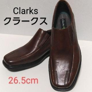 クラークス(Clarks)の【中古品】Clarks ローファー スリッポン レザー オフィス カジュアル ♪(スリッポン/モカシン)