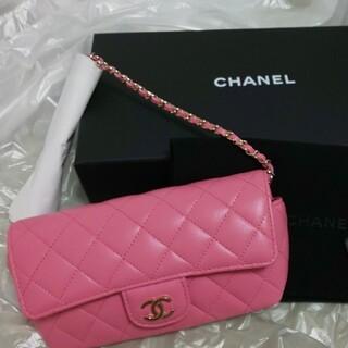 CHANEL - 国内正規店購入新品シャネルチェーンショルダーバッグアイウェアケースピンク