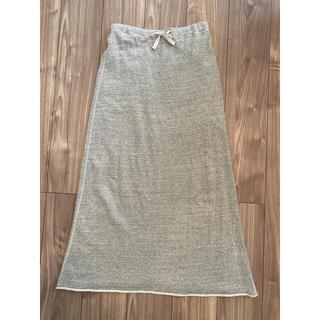 グレーロングスカート