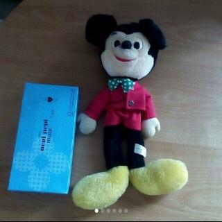 ミッキーマウス(ミッキーマウス)の[レア]ミッキーマウス ぬいぐるみ(キャラクターグッズ)