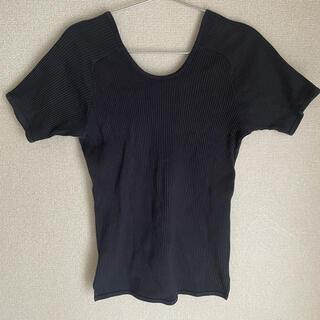 ヤエカ(YAECA)のthe hinoki バックオープンTシャツ(Tシャツ(半袖/袖なし))
