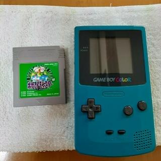 ゲームボーイ(ゲームボーイ)のゲームボーイカラー&ポケットモンスター緑(携帯用ゲーム機本体)