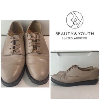 ビューティアンドユースユナイテッドアローズ(BEAUTY&YOUTH UNITED ARROWS)のユナイテッドアローズ グレージュレザー レースアップ ローファー(ローファー/革靴)