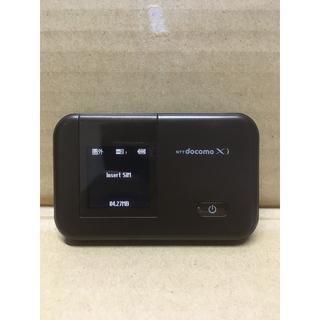 エヌティティドコモ(NTTdocomo)のDocomo HW-02E SIMロック解除済 WiFiルーター 即購入可能(スマートフォン本体)