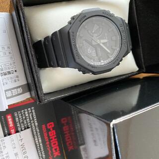 カシオ(CASIO)の新品未使用 CASIO G-SHOCK  GA-2100-1A1JF 黒黒(腕時計(デジタル))