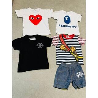 アベイシングエイプ(A BATHING APE)のまとめT シャツ パンツ A BATHING APE/CDG PLAY セット(Tシャツ/カットソー)