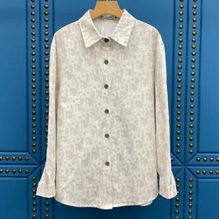 ディオール(Dior)のデニムフルプリントジャカードロゴ長袖シャツ(シャツ/ブラウス(長袖/七分))