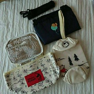 クマノプーサン(くまのプーさん)のプーさんセット♪  保冷バッグ、ペットボトルホルダー、エコバッグ、(弁当用品)