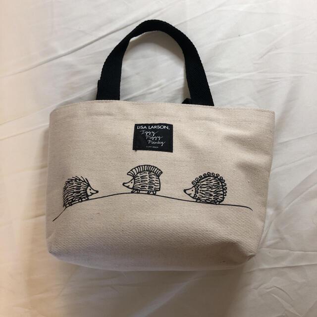 Lisa Larson(リサラーソン)のリサラーソン:ハリネズミ三兄弟のランチトートバッグ レディースのバッグ(トートバッグ)の商品写真